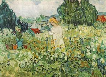 Vincent Van Gogh : Marguerite Gachet in the Garden II