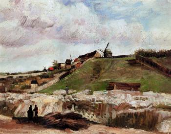 Vincent Van Gogh : Montmartre, Quarry, the Mills II