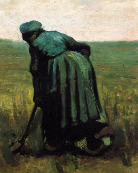Vincent Van Gogh : Peasant Woman Digging II
