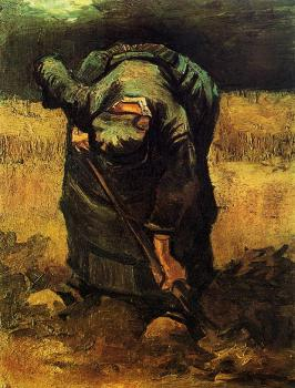 Vincent Van Gogh : Peasant Woman Digging III