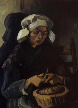 Vincent Van Gogh : Peasant Woman Peeling Potatoes, Neunen
