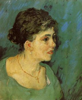 Vincent Van Gogh : Portrait of a Woman in Blue