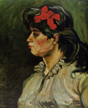 Vincent Van Gogh : Portrait of a Woman with Red Ribbon