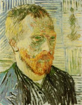 Vincent Van Gogh : Self Portrait with a Japanese Print