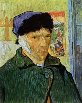 Vincent Van Gogh : Self Portrait with Badaged Ear