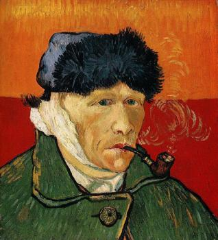 Vincent Van Gogh : Self Portrait with Bandaged Ear and Pipe, II