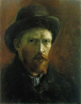 Vincent Van Gogh : Self Portrait with Dark Felt Hat II