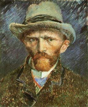Vincent Van Gogh : Self Portrait with Grey Felt Hat IV