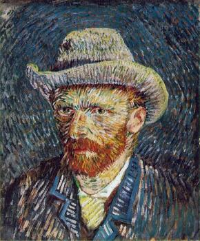 Vincent Van Gogh : Self Portrait with Grey Felt Hat V