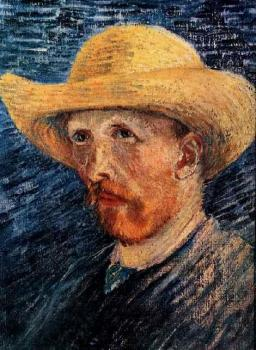 Vincent Van Gogh : Self Portrait with Straw Hat, II