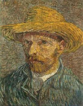 Vincent Van Gogh : Self Portrait with Straw Hat, III