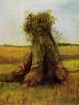Vincent Van Gogh : Sheaves of Wheat in a Field III