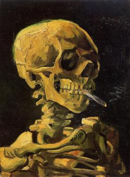 Vincent Van Gogh : Skull Smoking a Cigarette