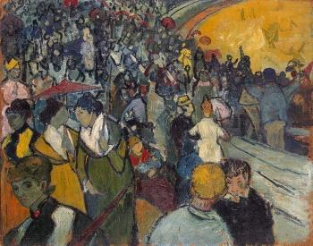 Vincent Van Gogh : Spectators in the Arena at Arles