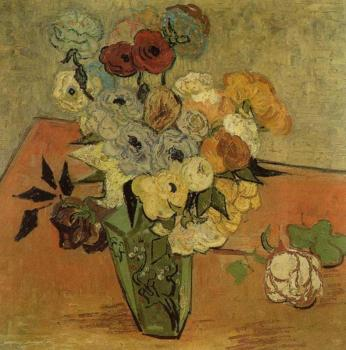 Vincent Van Gogh : Still Life, Vase with Roses and Anemones