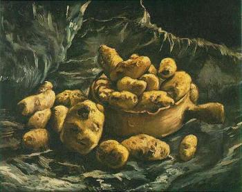 Vincent Van Gogh : Still Life with an Earthen Bowl and Potatoes