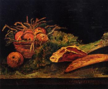 Vincent Van Gogh : Still Life with Apples, Meat and a Roll