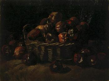 Vincent Van Gogh : Still Life with Basket of Apples II