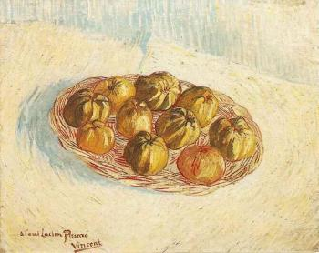 Vincent Van Gogh : Still Life with Basket of Apples III