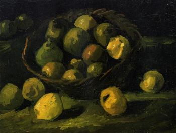 Vincent Van Gogh : Still Life with Basket of Apples IV