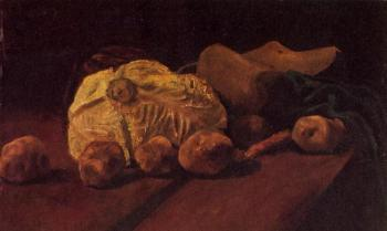 Vincent Van Gogh : Still Life with Cabbage and Clogs