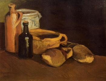 Vincent Van Gogh : Still Life with Clogs and Pots