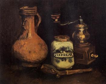 Vincent Van Gogh : Still Life with Coffee Mill, Pipe Case and Jug