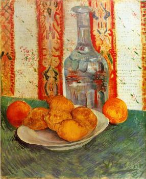 Vincent Van Gogh : Still Life with Decanter and Lemons on a Plate