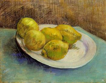 Vincent Van Gogh : Still Life with Lemons on a Plate
