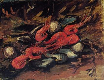 Vincent Van Gogh : Still Life with Mussels and Shrimps