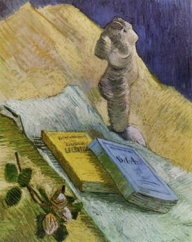 Vincent Van Gogh : Still Life with Plaster Statuette, a Rose and Two Novels