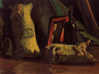 Vincent Van Gogh : Still Life with Two Sacks and a Bottle