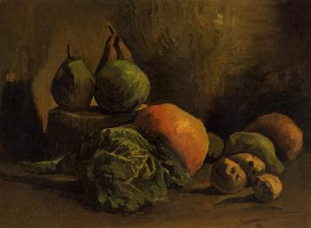 Vincent Van Gogh : Still Life with Vegetables and Fruit