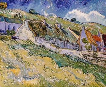 Vincent Van Gogh : Thatched Cottages