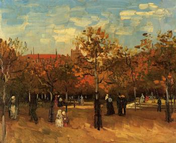 Vincent Van Gogh : The Bois de Boulogne, Paris