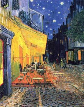 Vincent Van Gogh : The Cafe Terrace on the Place du Forum, Arles at Night