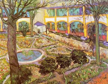 Vincent Van Gogh : The Courtyard of the Hospital at Arles
