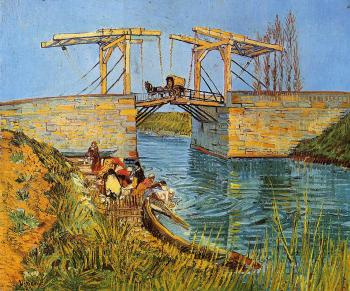 The Langlois Bridge at Arles with Women Washing II