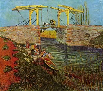 The Langlois Bridge at Arles with Women Washing III