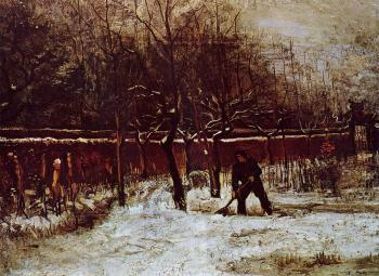 The Parsonage Garden at Nuenen in the Snow II