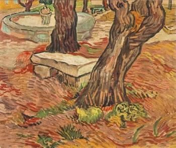 Vincent Van Gogh : The Stone Bench in the Garden of Saint-Paul Hospital