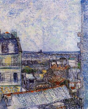 Vincent Van Gogh : The View from the Artist's Room, Rue Lepic