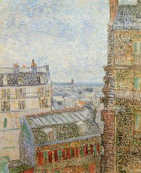 Vincent Van Gogh : The View from the Artist's Room, Rue Lepic II
