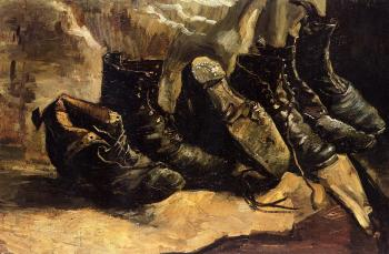 Vincent Van Gogh : Three Pair of Shoes