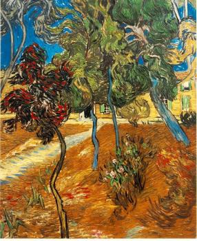 Vincent Van Gogh : Trees in the Garden of Saint-Paul Hospital