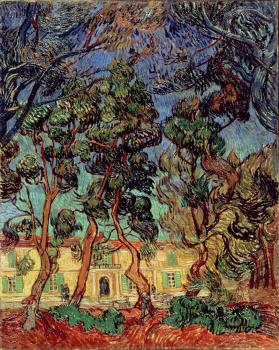 Vincent Van Gogh : Trees in the Garden of Saint-Paul Hospital II