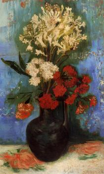 Vincent Van Gogh : Vase with Carnations and Other Flowers