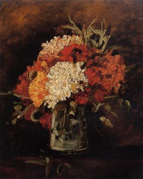 Vincent Van Gogh : Vase with Carnations