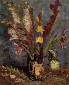 Vincent Van Gogh : Vase with Gladioli II