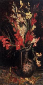 Vincent Van Gogh : Vase with Red Gladioli